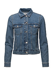 Medium denim jacket - OPEN BLUE