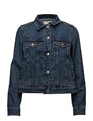 Dark denim jacket - OPEN BLUE