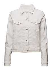 White denim jacket - WHITE