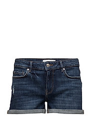 Medium wash denim shorts - OPEN BLUE