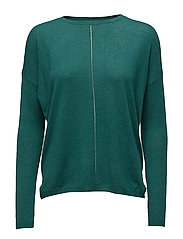 Openwork detail sweater - GREEN