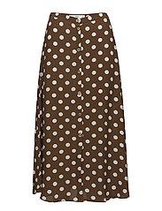 Polka-dot skirt - BROWN