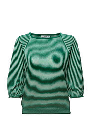 Stripe pattern sweater - BRIGHT GREEN