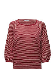 Stripe pattern sweater - RED