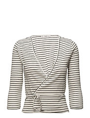 Textured wrapped t-shirt - NATURAL WHITE