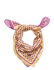 Mixed print scarf - LT-PASTEL PURPLE