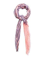 Multicolor striped scarf - LT-PASTEL PURPLE