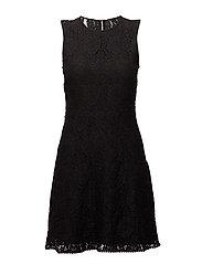 Shift guipure dress - BLACK