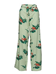 Bow printed trouser - GREEN