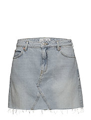 Denim organic cotton skirt - OPEN BLUE