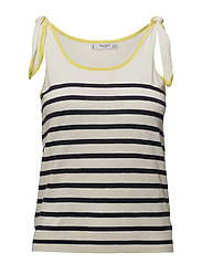 Bow striped top - NAVY
