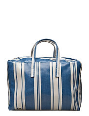 Striped shopper bag - MEDIUM BLUE