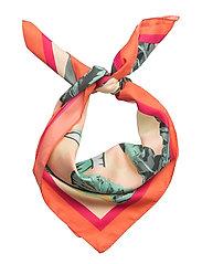 Tropical printed scarf - LT-PASTEL ORANGE