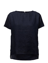 Linen blouse - NAVY
