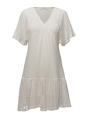 Open-work dress - NATURAL WHITE