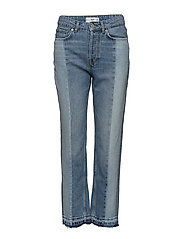 Contrast panels jeans - OPEN BLUE