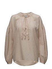 Puffed sleeves blouse - LT-PASTEL PINK