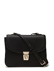 Pebbled cross-body bag - BLACK