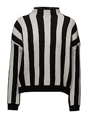 Stripe pattern sweater - LIGHT BEIGE