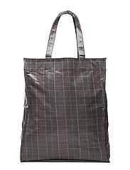 Check shopper bag - GREY