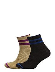 Pack 2 metallic socks - MEDIUM PURPLE