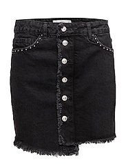 Studded denim skirt - OPEN GREY