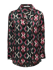 Buttoned printed shirt - PINK