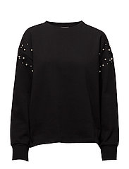 Message cotton sweatshirt - BLACK