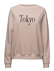 Message pattern sweatshirt - PINK