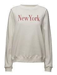Message pattern sweatshirt - WHITE