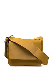 Leather cross body bag - MEDIUM YELLOW