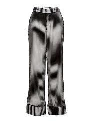 Striped palazzo trousers - BLACK