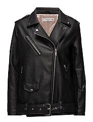 Biker oversize jacket - BLACK