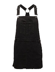 Dark denim dungarees - OPEN GREY