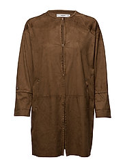 Soft finish jacket - DARK BROWN