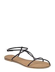 Decorative strap sandals - BLACK
