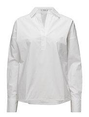 Oversize cotton blouse - WHITE