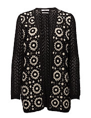 Crochet cardigan - BLACK