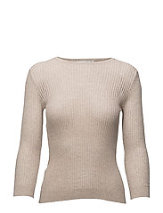 Openwork knit sweater - LT PASTEL GREY
