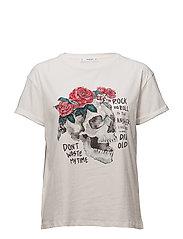 Rock cotton t-shirt - WHITE