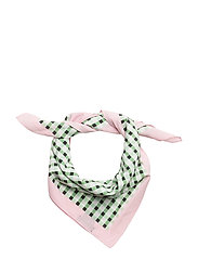 Gingham check printed scarf - GREEN