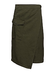 Pocket wrap skirt - BEIGE - KHAKI