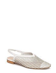 Laser-cut slingback shoes - NATURAL WHITE