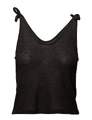 Knot knitted top - BLACK