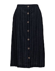 Pinstripe skirt - NAVY