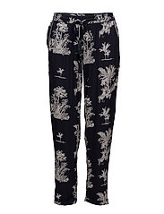 Flowy printed trousers - NAVY