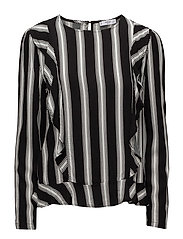 Fluted hem blouse - NATURAL WHITE