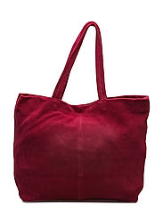 Leather shopper bag - MEDIUM PINK