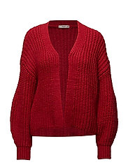 Chunky knit cardigan - RED