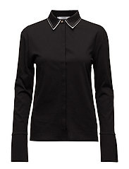 Contrast collar shirt - BLACK